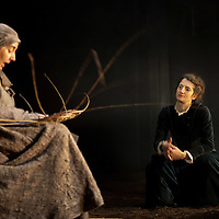 Picture shows :  Wendy Seager as Sara  and Nora Wardell as Ellen (right).<br /> Bondagers <br /> By Sue Glover<br /> Directed by Lu Kemp<br /> &quot;Redd up the stables, muck out the byre, plant the tatties, howk the tatties, clamp the tatties... Shear, stook, striddle, stack. Women's work.&quot;<br /> A true classic of modern Scottish Theatre, and a haunting evocation of a lost way of life, Sue Glover&rsquo;s lyrical play with music and song follows six women land workers as they graft and dance their way through a year on a 19th Century Borders farm.<br /> Every ploughman had to provide a woman (a bondager) to work on the farm. If his wife was too busy with family, he hired a woman to work the fields and lodge in his home. Following these women&nbsp;through the passing of the seasons, we feel the rhythm of the land and the harshness, humour, hope and tragedy of those who worked upon it.&nbsp;<br /> Picture : Drew Farrell<br /> Tel : 07721 -735041<br /> www.drewfarrell.com<br /> <br /> <br /> For Further information please contact Michelle Mangan Press and PR Manager, Royal Lyceum Theatre Edinburgh <br /> Main Line: 0131 248 4800| Direct Line: 0131 248 4822<br /> <br /> Image is free to use in connection of the promotion of 'Bondagers' and  The Lyceum Theatre Permissions for ALL other uses needs to be sought and payment make be required.<br /> <br /> Opens at The Royal Lyceum Theatre, Edinburgh<br /> 22 October to 15 November 2014<br /> CAST <br /> Cath Whitefield - Tottie <br /> Pauline Lockhart - Maggie <br /> Wendy Seager - Sara <br /> Jayd Johnson - Liza <br /> Charlene Boyd - Jenny <br /> Nora Wardell - Ellen <br /> CREATIVE TEAM <br /> Director   Lu Kemp <br /> Designer Jamie Vartan <br /> LX Designer   Simon Wilkinson <br /> Composer/Sound Designer - Michael John McCarthy<br /> Voice - Ros Steen<br /> Lu Kemp has recently has directed Don Quixote at &Ograve;ran M&oacute;r, and Arabian Nights at the Tricycle Theatre. We are delighted to welcome her to The Lyc