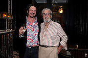 JAY RAYNER WITH HIS FATHER DES RAYNER, Massimo's restaurant at the Corinthia Hotel, Whitehall  host the after party  for 'Claire Rayner's benefit show' 5 June 2011. <br /> <br />  , -DO NOT ARCHIVE-© Copyright Photograph by Dafydd Jones. 248 Clapham Rd. London SW9 0PZ. Tel 0207 820 0771. www.dafjones.com.