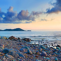 Waterville Cottage near cliffs overlooking Ballinskelligs Bay, County Kerry, Ireland <br />