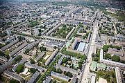 Sarcelles, département du Val-d'Oise (95), le grand stade+Sarcelles Lochères, massive social housing project.