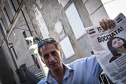 June 22, 2017 - Rome, Italy, Italy - Rome Italy June 22 Several hundred people  gathered in Capitol Hill Square to protest against Mayor of Rome Virginia Raggi and  her policy after one year of the Five Star government June 22,2017 in Rome. (Credit Image: © Andrea Ronchini/Pacific Press via ZUMA Wire)