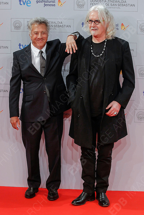 29.SEPTEMBER.2012. SAN SEBASTIAN<br /> <br /> DUSTIN HOFFMAN AND BILLY CONNOLLY ARRIVE AT THE DONOSTI SPECIAL AWARD AT THE CLOSING GALA OF THE SAN SEBASTIAN FILM FESTIVAL HELD AT EL KURSAAL.<br /> <br /> BYLINE: EDBIMAGEARCHIVE.CO.UK<br /> <br /> *THIS IMAGE IS STRICTLY FOR UK NEWSPAPERS AND MAGAZINES ONLY*<br /> *FOR WORLD WIDE SALES AND WEB USE PLEASE CONTACT EDBIMAGEARCHIVE - 0208 954 5968*