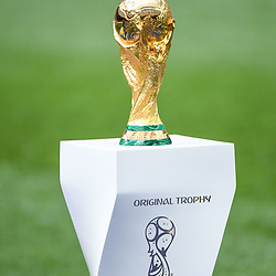 Illustration picture of the FIFA Wolrd Cup Trophy during the World Cup Final match between France and Croatia at Luzhniki Stadium on July 15, 2018 in Moscow, Russia. (Photo by Anthony Dibon/Icon Sport)
