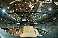 Italo Penarrubia during Skate Big Air Practice at the 2013 X Games Barcelona in Barcelona, Spain. ©Brett Wilhelm/ESPN