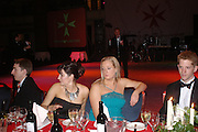 Anna des Tombe and Amanda  Livingstone. White Knights Ball, Grosvenor House Hotel 7 January 2005. ONE TIME USE ONLY - DO NOT ARCHIVE  © Copyright Photograph by Dafydd Jones 66 Stockwell Park Rd. London SW9 0DA Tel 020 7733 0108 www.dafjones.com