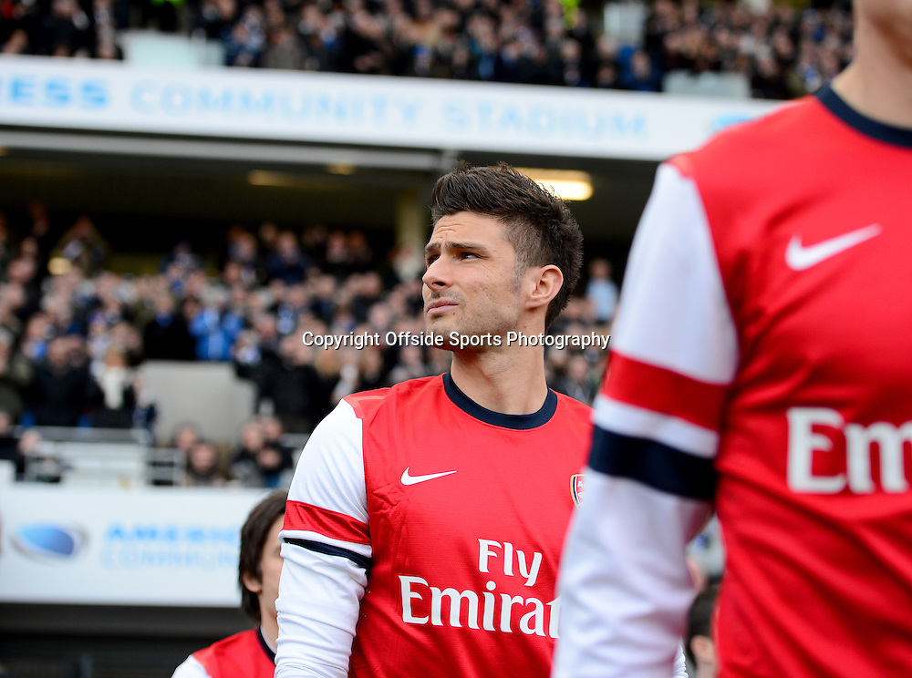 26th January 2013 - FA Cup 4th Round  - Brighton and Hove Albion v Arsenal - Olivier Giroud of Arsenal looks up into the stands as he leaves the players tunnel - Photo: Marc Atkins / Offside.