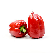 Fresh and organic Red Bell Pepper on white background