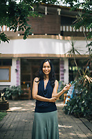 Chiang Mai, Thailand -- May 20, 2017: A portrait of Areeradh, the founder of The Yoga Tree in Chiang Mai, Thailand.