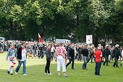 04.05.2014, Rhein-Energie Stadion, Koeln, GER, 2. FBL, 1. FC Koeln vs FC St. Pauli, 33. Runde, im Bild Ankunft der Fans des FC St Pauli am Rhein-Energie-Stadion // during the German 2nd Bundesliga 33th round match between 1. FC Cologne and FC St Pauli at the Rhein-Energie Stadion in Koeln, Germany on 2014/05/04. EXPA Pictures © 2014, PhotoCredit: EXPA/ Eibner-Pressefoto/ Schueler<br /> <br /> *****ATTENTION - OUT of GER*****
