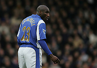 Photo: Lee Earle.<br /> Portsmouth v Tottenham Hotspur. The Barclays Premiership. 01/01/2007. Pompey's Sol Campbell.