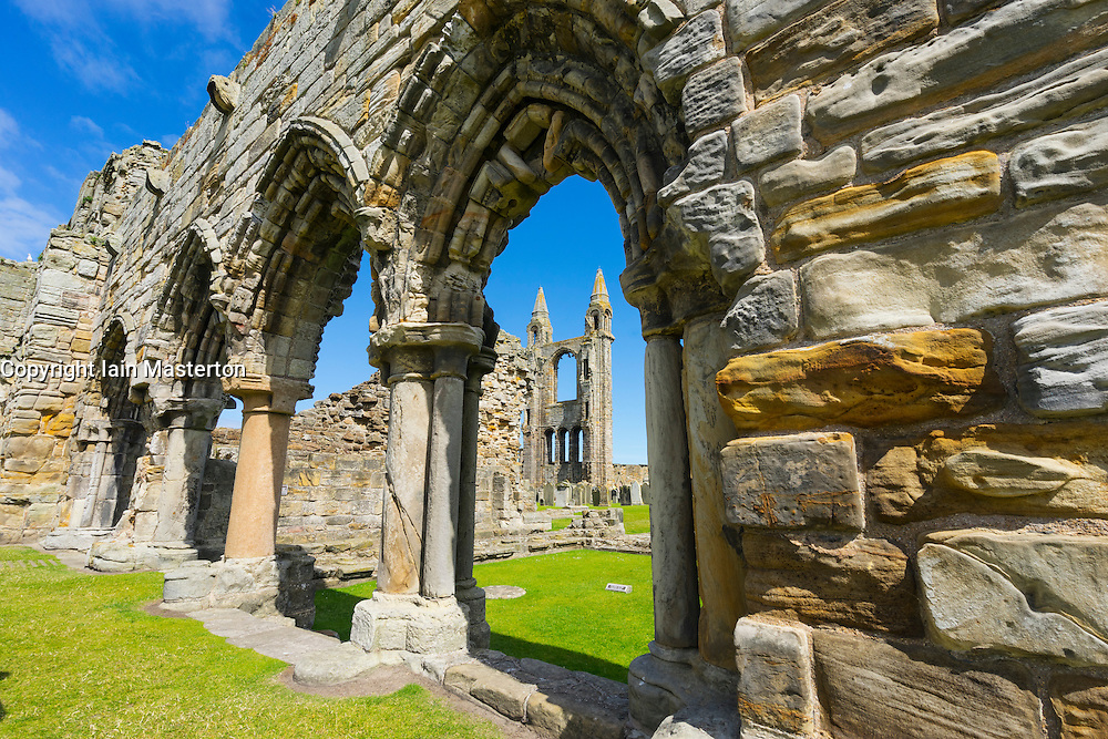 Ruins of St Andrews Cathedral St Andrews Fife, Scotland