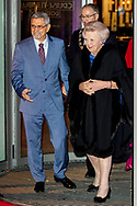 ROTTERDAM - Princess Beatrix  meet the Cape Verdean president Jorge Carlos de Almeida Fonseca and his wife at the Cruis terminal for a concert. Fonseca is in the Netherlands for a two-day state visit. copyrught robin utrecht