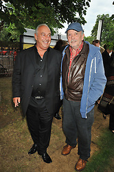 Left to right, SIR PHILIP GREEN and DAVID BAILEY at the annual Serpentine Gallery Summer Party sponsored by Canvas TV  the new global arts TV network, held at the Serpentine Gallery, Kensington Gardens, London on 9th July 2009.