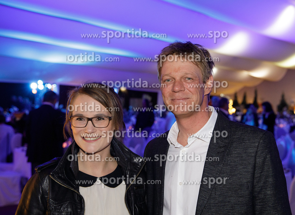 23.01.2017, Planai, Schladming, AUT, FIS Weltcup Ski Alpin, Slalom, Herren, Charity Night, im Bild Laura und Michael Pircher // during the Charity Night prior to the Schladming FIS Ski Alpine World Cup 2017 at the Planai in Schladming, Austria on 2017/01/23. EXPA Pictures © 2017, PhotoCredit: EXPA/ Martin Huber
