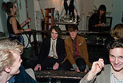SAMUEL SPIKE; RUFUS GIBBS, Browns Club Monaco launch. hosted by Lou Doillon, at the Schools of the Royal Academy of Art. Piccadilly, London. 19 February 2010.  .-DO NOT ARCHIVE-© Copyright Photograph by Dafydd Jones. 248 Clapham Rd. London SW9 0PZ. Tel 0207 820 0771. www.dafjones.com.