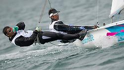 2012 Olympic Games London / Weymouth<br /> Harada Ryunosuke, Yoshida Yuugo, (JPN, 470 Men)