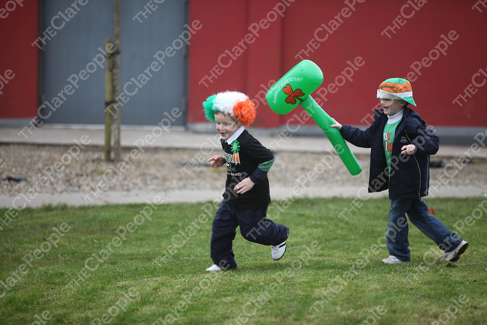 James Flannagan and Gerard Howley pictured at the St Patricks Day Parade in Lisdoonvarna on Saturday.<br /> Pic. Brian Arthur/ Press 22.