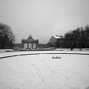 A mid-winter's day walk in the Parc du Cinquantenaire Black & White version