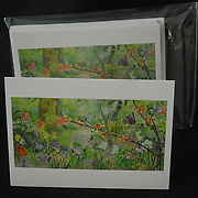 Single card with envelope in a crystal clear bag - $3.50, Package of five cards (all the same) with envelopes in a ziplock bag - $13.50.<br /> Blank on the inside to write your own message.