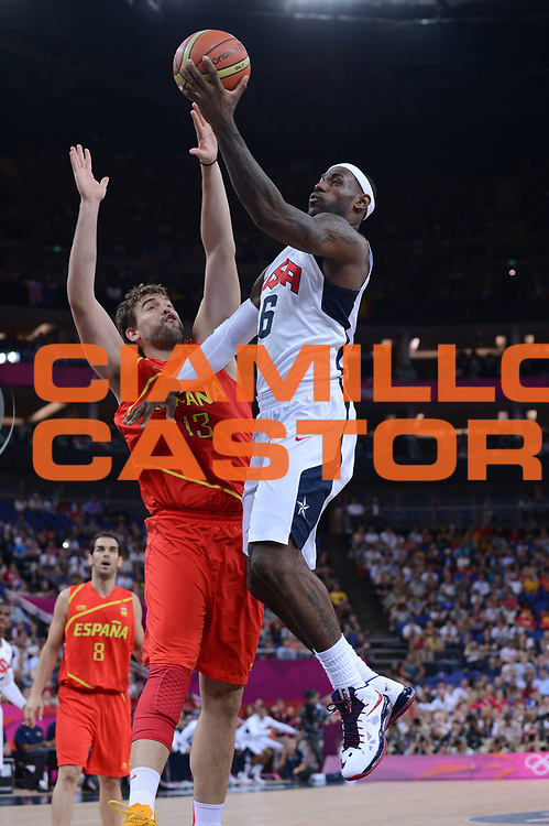 DESCRIZIONE : London Londra Olympic Games Olimpiadi 2012 Men Gold Medal Game Usa Spain Usa Spagna<br /> GIOCATORE : Lebron James<br /> CATEGORIA :<br /> SQUADRA : USA<br /> EVENTO : Olympic Games Olimpiadi 2012<br /> GARA : Usa Spain Usa Spagna<br /> DATA : 12/08/2012<br /> SPORT : Pallacanestro <br /> AUTORE : Agenzia Ciamillo-Castoria/M.Marchi<br /> Galleria : London Londra Olympic Games Olimpiadi 2012 <br /> Fotonotizia : London Londra Olympic Games Olimpiadi 2012 Men Gold Medal Game Usa Spagna Usa Spain<br /> Predefinita :
