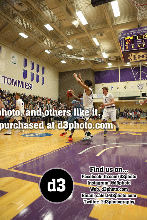 The University of Saint Thomas Tommies defeated the Saint John's University Johnnies 82-69 in MIAC action on December 10, 2016 in Saint Paul, Minn.