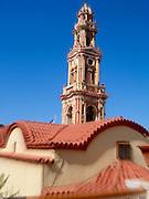 Symi Island, Greece, Panormitis Monastery the clock tower