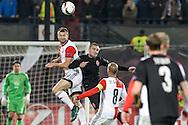 20-10-2016: Voetbal: Feyenoord v Zarja Loegansk: Rotterdam<br /> <br /> (L-R) Jan-Arie van der Heijden (Feyenoord) during Europa League match between Feyenoord and Zorja Luhansk on 20 oktober 2016 at Stadion Feijenoord (de Kuip), Rotterdam, Zuid-Holland<br /> <br /> Europa League - Season 2016 / 2017<br /> <br /> Photo: Gertjan Kooij