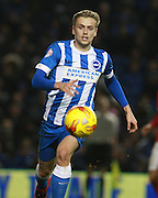 Brighton striker James Wilson during the Sky Bet Championship match between Brighton and Hove Albion and Charlton Athletic at the American Express Community Stadium, Brighton and Hove, England on 5 December 2015. Photo by Bennett Dean.