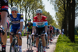 Peloton with JUNGELS Bob from Luxemburg of Etixx - Quick Step (BEL) and KITTEL Marcel from Germany of Etixx - Quick Step (BEL) on the Hoenderloseweg at Deelen, stage 2 from Arnhem to Nijmegen running 190 km of the 99th Giro d'Italia (UCI WorldTour), The Netherlands, 7 May 2016. Photo by Pim Nijland / PelotonPhotos.com | All photos usage must carry mandatory copyright credit (Peloton Photos | Pim Nijland)