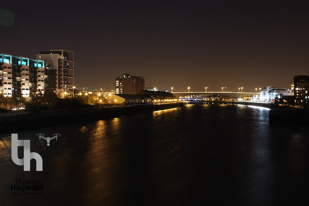 Glasgow Clyde at Night 08-11-07
