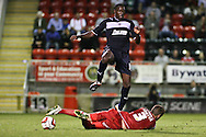 Picture by David Horn/Focus Images Ltd +44 7545 970036.21/08/2012.Action during the npower League 1 match at the Matchroom Stadium, London.