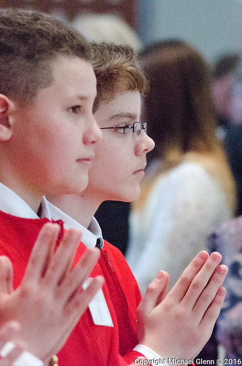 16 March 2016 Forked River USA / The sacrament of Confirmation at St Pius X Church  /  Michael Glenn  / Glenn Images