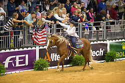 Mandy Mccutcheon, (USA), Yellow Jersey - Individual Final Comptetition - Alltech FEI World Equestrian Games™ 2014 - Normandy, France.<br /> © Hippo Foto Team - Jon Stroud<br /> 30-08-14