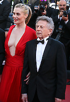 Director Roman Polanski, Actress Emmanuelle Seigner at Venus in Fur - La Venus A La Fourrure film gala screening at the Cannes Film Festival Saturday 26th May May 2013