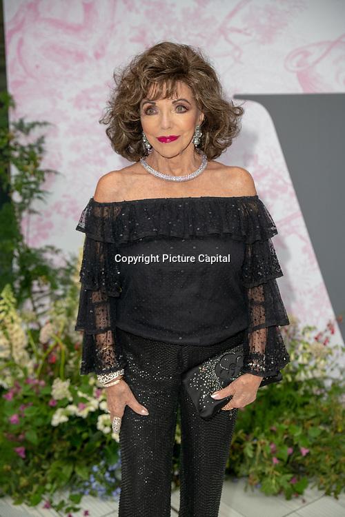 Joan Collins arrives at V&A - summer party, on 19 June 2019, London, UK