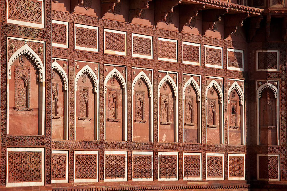 Agra Fort the Jahangir Mahal, zenana palace residence of Rajput wives of Mughal Emperor Akbar