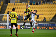 Wellington Phoenix&rsquo; Goran Paracki and Melbourne Victory&rsquo;s Kosta Barborouses in action during the A League - Wellington Phoenix v Melbourne Victory FC at Westpac Stadium, Wellington, New Zealand on Wednesday 10 January 2018. <br /> Photo by Masanori Udagawa. <br /> www.photowellington.photoshelter.com