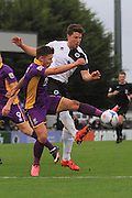 Billy Waters and Callum Reynolds during the Vanarama National League match between Boreham Wood and Cheltenham Town at Meadow Park, Boreham Wood, United Kingdom on 9 January 2016. Photo by Antony Thompson.
