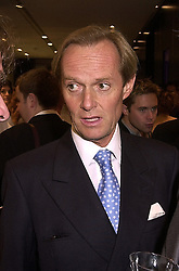 The MARQUESS OF DOURO son of the Duke of Wellington, at a party in London on 1st November 2000.OIP 45
