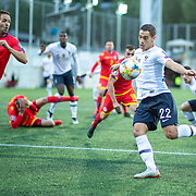 ANDORRA LA VELLA, ANDORRA. June 1.  Wissam Ben Yedder #22 of France shoots during the Andorra V France 2020 European Championship Qualifying, Group H match at the Estadi Nacional d'Andorra on June 11th 2019 in Andorra (Photo by Tim Clayton/Corbis via Getty Images)