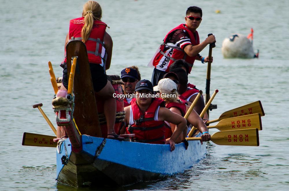 FDNYEMS Dragons at the 2013 Dragon boat meet at flushing Meadow Park