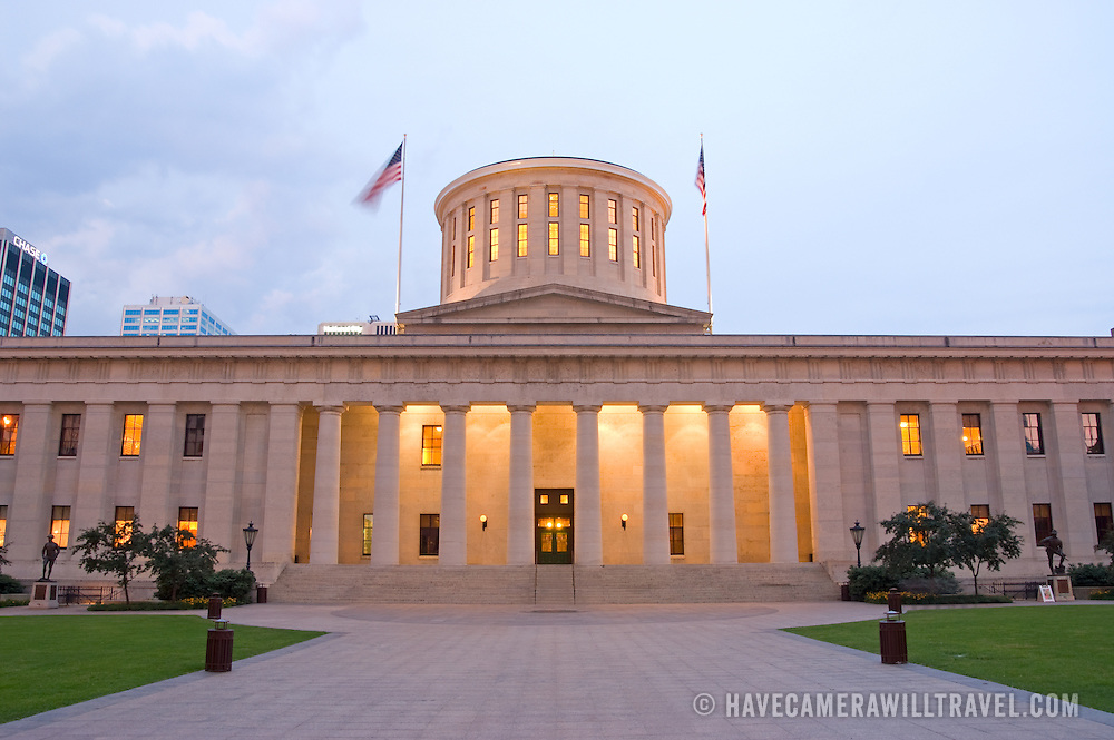 Ohio State Capitol Building At Dusk Have Camera Will Travel Photos - Ohio state architecture