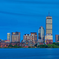 Boston skyline photography showing the Prudential Center, Sheraton Hotel Boston, 111 Huntington Avenue and the One Dalton Tower office buildings, luxury apartments and Four Seasons Hotel at night. <br /> <br /> This Boston skyline photography images are available as museum quality photography prints, canvas prints, acrylic prints or metal prints. Prints may be framed and matted to the individual liking and decorating needs: <br /> <br /> https://juergen-roth.pixels.com/featured/boston-four-seasons-hotel-juergen-roth.html<br /> <br /> Good light and happy photo making!