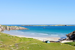 Small beach at Sangobeg,  Durness on north Coast of Scotland , United Kingdom