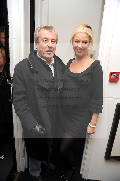 TERRY O'NEILL and TAMARA BECKWITH at a private view of 'Most Wanted' an exhibition of photographs held at The Little Black Gallery, Park Walk, London on 27th November 2008.