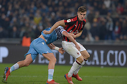 February 26, 2019 - Rome, Italy - Krysztof Piatek during the Italian Cup football match between SS Lazio and AC Milan at the Olympic Stadium in Rome, on february 26, 2019. (Credit Image: © Silvia Lore/NurPhoto via ZUMA Press)