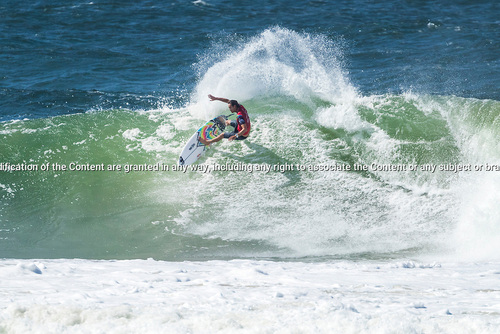 Jordy Smith (ZAF) is eliminated from the Quiksilver Pro Gold Coast after placing second in Heat 12 of Round 3 at Snapper Rocks, Gold Coast, QLD, Australia. . FOR EDITORIAL NEWS USE ONLY