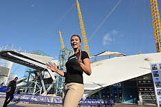 AUG 11 2014 Amy Willerton on a zip Wire at The O2