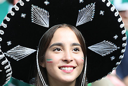 MOSCOW, June 17, 2018  A fan of Mexico is seen prior to a group F match between Germany and Mexico at the 2018 FIFA World Cup in Moscow, Russia, June 17, 2018. (Credit Image: © Xu Zijian/Xinhua via ZUMA Wire)