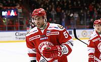 2020-02-12 | Ljungby, Sweden: Troja-Ljungby (51) Jonatan Nielsen after scoring 1-0 during the game between IF Troja / Ljungby and Huddinge IK at Ljungby Arena ( Photo by: Fredrik Sten | Swe Press Photo )<br /> <br /> Keywords: Ljungby, Icehockey, HockeyEttan, Ljungby Arena, IF Troja / Ljungby, Huddinge IK, fsth200212, ATG HockeyEttan, Allettan